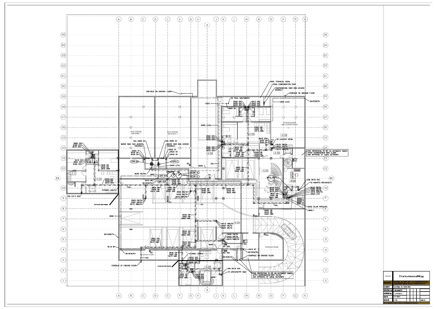 Mechanical Electrical Plumbing Mep Projects In Lebanon And Middle East Villa Plan Large Water Supply
